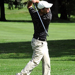 Mike Campana of Amherst hits down the fairway at Lorain County Coaches tournament at Columbia Hills on Sep 19.   Steve Manheim