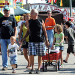 Fair- goers at Lorain County Fair on Aug. 21.  Steve Manheim