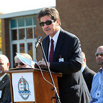 Lorain Schools supt. Tom Tucker speaks at the new Lorain High groundbreaking ceremony on Oct. 24. Steve Manheim