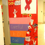 A decorated door for a contest at Midview High School Oct. 28.  Steve Manheim/CT