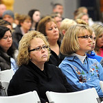 A portion of the crowd at the Midview Schools board meeting on Dec. 19. Steve Manheim