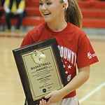 AuBree LaForce of Vermilion wins 2013 Miss Basketball award at Lorain County Girls All-Star Game at Elyria on Mar. 19.  Steve Manheim