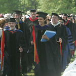 Tappan Square, Oberlin, at Oberlin College commencement exercises. photo  by Chuck Humel