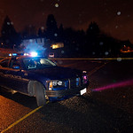 Renton Police MOnday  Nov. 30, 2009, block the street where they believed the Mayrice Clemmons contacted relatives. Clemmons is sought in the slaying of four police officers.  (AP Photo/Kevi …