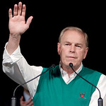 Ohio Governor Ted Strickland waves after his speech at the Ohio Democratic Party's election night event in Columbus, Ohio, Wednesday, Nov. 3, 2010. Strickland lost to Republican challenger J …