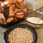 Linda Karohl of Amherst–her image is in the copper colored toaster–bakes goodies for troops overseas as part of Operation Baking Northern Ohio, which is a group of bakers who volunteer to  …
