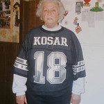 10NOV10 Jeanne Petroff, a Bernie Kosar fan.  William Petroff, a widower who sits by his wife Jeanne's grave every day, took the CT through decades of memorabilia in his N. Ridgeville home.   …