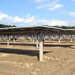 Solar array under construction in New Russia Twp. on Oct. 4.   Steve Manheim