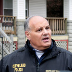 Cleveland Police Deputy Chief Ed Tomba talks to reporters after investigators resumed searching the home of Anthony Sowell in Cleveland Thursday, Nov. 5, 2009. Investigators are looking for  …