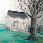 White House on Center Road by Norma Pressly.