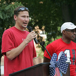 One of Tianna's coaches, Mike Lugar, speaks. Elyria fans and family of Tianna Madison turn out at Ely Square to cheer on hometown track and field star who will represent the United States at …