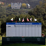 The leaderboard stands near the 18th hole at Sherwood Country Club in Thousand Oaks, Calif., Tuesday, Dec. 1, 2009. Facing public scrutiny over a car crash that sent him to the hospital and  …
