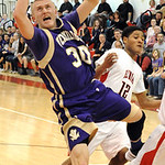 Vermilion Cameron Kuhn has ball knocked away by Elyria Anthony Duckett Jan. 29. Steve Manheim