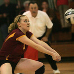 Avon Lake's Lauren Bakaitis digs out a service.