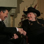 29JAN12  Country singer Willie Nelson arrived in Lorain to play a fundraiser concert for Dennis Kucinich.     photo by Chuck Humel