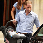 The Duke and Duchess of Cambridge leave the Lindo Wing of St Mary's Hospital in London Tuesday July 23 2013, carrying their new-born son, the Prince of Cambridge who was born Monday, into pu …