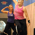 Angela Rigsby, right, and Penny Grieve, instruct at Zumba Fitness class at the old Lorain YMCA Apr. 20. Steve Manheim