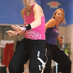 Angela Rigsby, left, and Penny Grieve, Zumba instructors, lead a Zumba Fitness class at the old Lorain YMCA on Tower Blvd. Apr. 25.  Steve Manheim