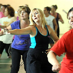 A Zumba fitness class at the old Lorain YMCA Apr. 20.   Steve Manheim