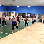 Angela Rigsby, right, a Zumba instructor, teaches a Zumba Fitness class at the old Lorain YMCA on Tower Blvd. Apr. 20.   Steve Manheim