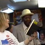 Sylvester Cooper considers a book recommendation in the Elyria Public Library's Bookmobile in 2008.