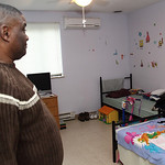 Monitor Mark Mays shows a family bedroom. photo by Ray Riedel