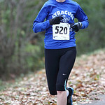 Meredith Hale takes an early lead in winning the women's Inland trail marathon. photo by Ray Riedel