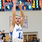 Midview&#039;s Matt Randolf takes the last shot of the game in Midview&#039;s come from behind overtime win against Keystone. photo by Ray Riedel