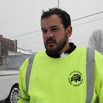 Snow plow driver Ben Sanborn. photo by Ray Riedel