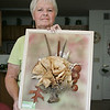 Unique Vermilion Artist Janet Bandy : Local Artist, Janet Bandy of Vermilion makes unique eco artwork from what she finds on the beach. She is also a published photographer. She teaches eco art courses at the nature center near Old Woman Creek.
