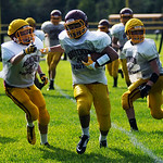 The Avon Lake Shoreman run drills during practice on Wednesday. KRISTIN BAUER | CHRONICLE