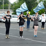 The Clearview High School marching band practices on Aug. 12 in the Clearview High School parking lot. KRISTIN BAUER | CHRONICLE