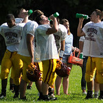 The Avon Lake Shoreman take a break during practice on Aug. 27. KRISTIN BAUER | CHRONICLE