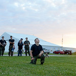 U.S. Air Force Auxiliary Cadet Zak Kerr, 15, of Elyria, pulls the cord to launch his rocket into the sky as part of an experiment at the Lorain County Regional Airport on July 1. KRISTIN BAU …
