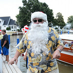 Santa arrived dressed in beach attire at Exchange Park in Vermilion during their annual Christmas in July festivities on July 25.  KRISTIN BAUER | CHRONICLE