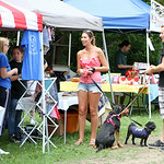 Dog owners brought their four-legged friends to the Paws in the Park event at South Central Park in North Ridgeville, where various dog rescue organizations had booths set up and adoptable d …
