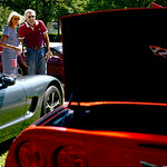 Jim and Joni Berry, of Huron, are new corvette owners and came out to Vermilion to view some of the other Corvettes.  KRISTIN BAUER | CHRONICLE
