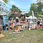 Small Town Junk of Hillsboro, Ohio, featured vintage inspired clothing, scarves and hats at the ninth annual Summer Market at Veteran's Memorial Park in Avon Lake on July 25. The market feat …