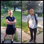 This fourth- and eighth-grader are ready for their first day at Elyria Community Middle School.