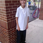 Michael is ready for his first day of seventh grade at General Johnnie Wilson Middle School in Lorain.