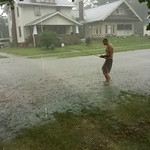 A resident tries to catch a bite on West Avenue in Elyria.