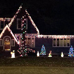 Amanda Mier's house on West Erie Avenue in Lorain is lit up for the holidays.