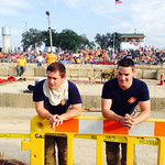 Michael Standen and Tim Standen from the Wellington Fire Department work the Derby.
