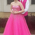 Brooke Nichole Kmitt and Jacob Newman pose before Black River's prom.