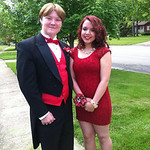 Joshua and Z on their way to North Ridgeville's prom on May 17.