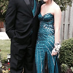 Haley Moss and Stephen Kozel pose before prom.