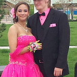 Tatyana Smith and Joshua Stanley pose before Lorain's prom.