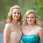 Tracie and Mikayla Truxall pose before Elyria High's prom on May 10.