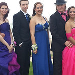 A group of students pose before Lorain High's prom.