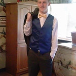 Kyle Gray poses before Clearview's prom on May 17.